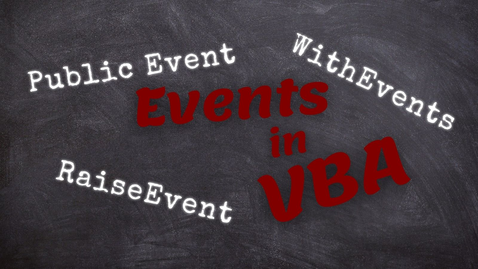 Raising Custom Events in VBA